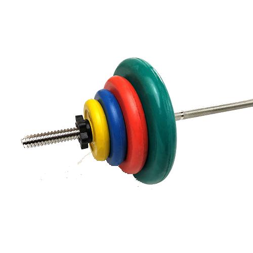 Штанга разборная, цветная d=26мм, 45,7 кг MB-B26-45,7-1800 MB Barbell