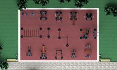 Уличные тренажеры на 150 м2 MB-M150 MB Barbell